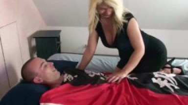 German stepmom wake Guy up for Fuck when home alone